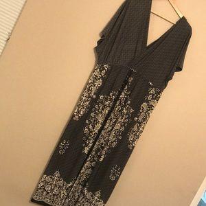 Just Love Split Neck Maxi Dress - Size 3X